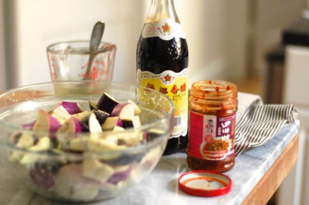 "Sichuan ""Fish Fragrant"" Eggplant with Bacon from Blossom to Stem 