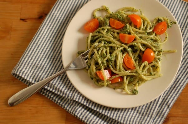Dill Parsley Pesto. Bright and lovely on pasta, roasted potatoes, tomato sandwiches, fish... From Blossom to Stem   Because Delicious www.blossomtostem.net