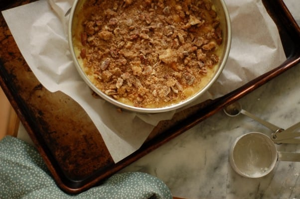 Peach-Apricot Buttermilk Buckle. A homey comforting dessert perfect for low key gatherings. From Blossom to Stem | Because Delicious www.blossomtostem.net
